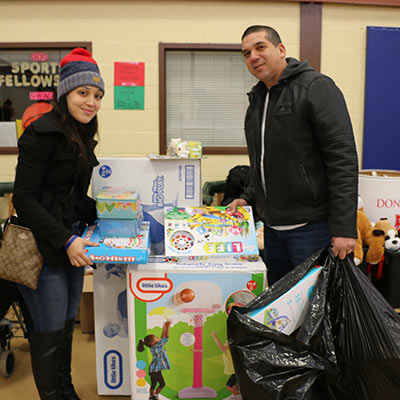 Salvation Army Collecting toys and donations