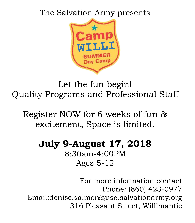 Camp Willi Willimantic CT