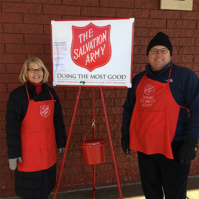 Local leaders ring the bell for The Salvation Army in Newport, RI