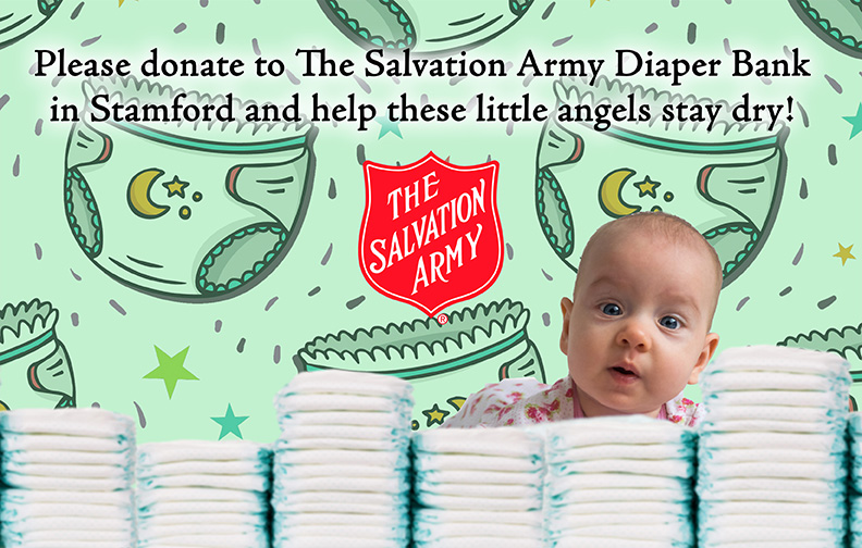 Diaper Bank Stamford Salvaioon Army