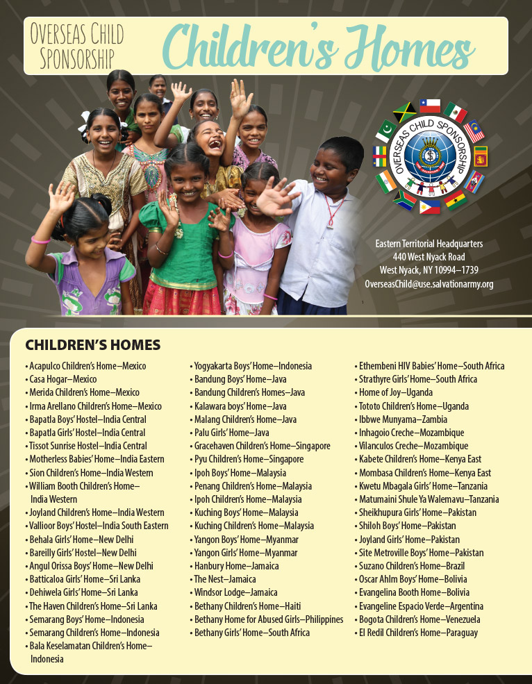The Salvation Army USA: Eastern Territory - Child Sponsorship