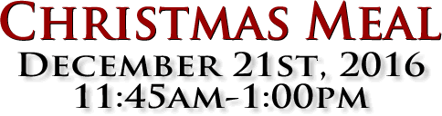 Christmas Meal - December 21st