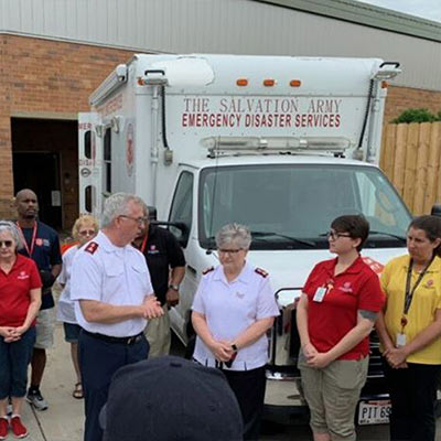 The Salvation Army's Tornado Response Work Continues in Hard-Hit Dayton Ohio