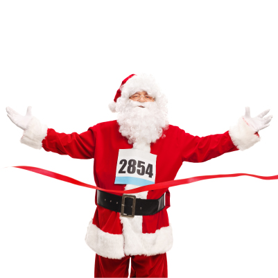 Running santa, Jingle All the Way 5K, Ashland Salvation Army Kroc Center 5K, Ashland, Ohio