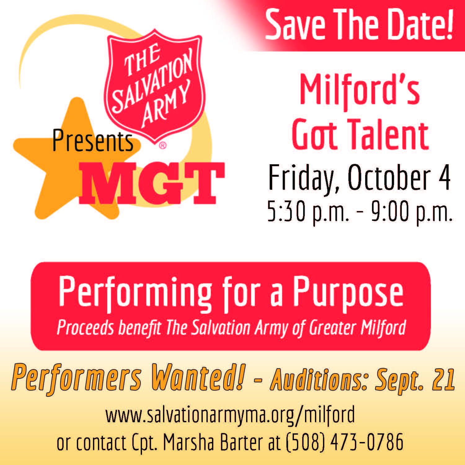 Join us for Milford's Got Talent