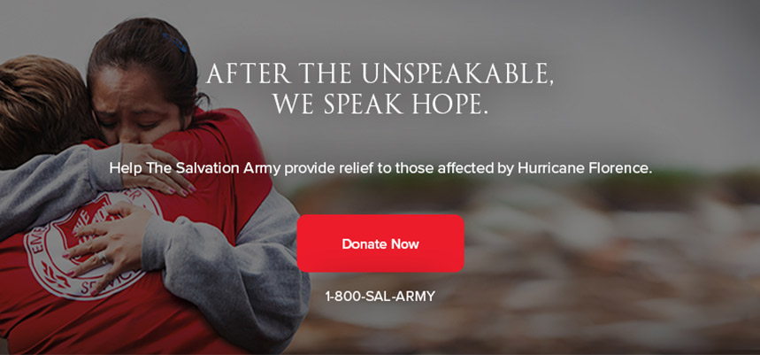 The Salvation Army prepares for Hurricane Florence
