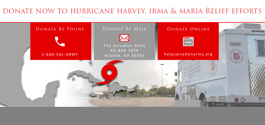 Donate to The Salvation Army Hurricane Relief Work
