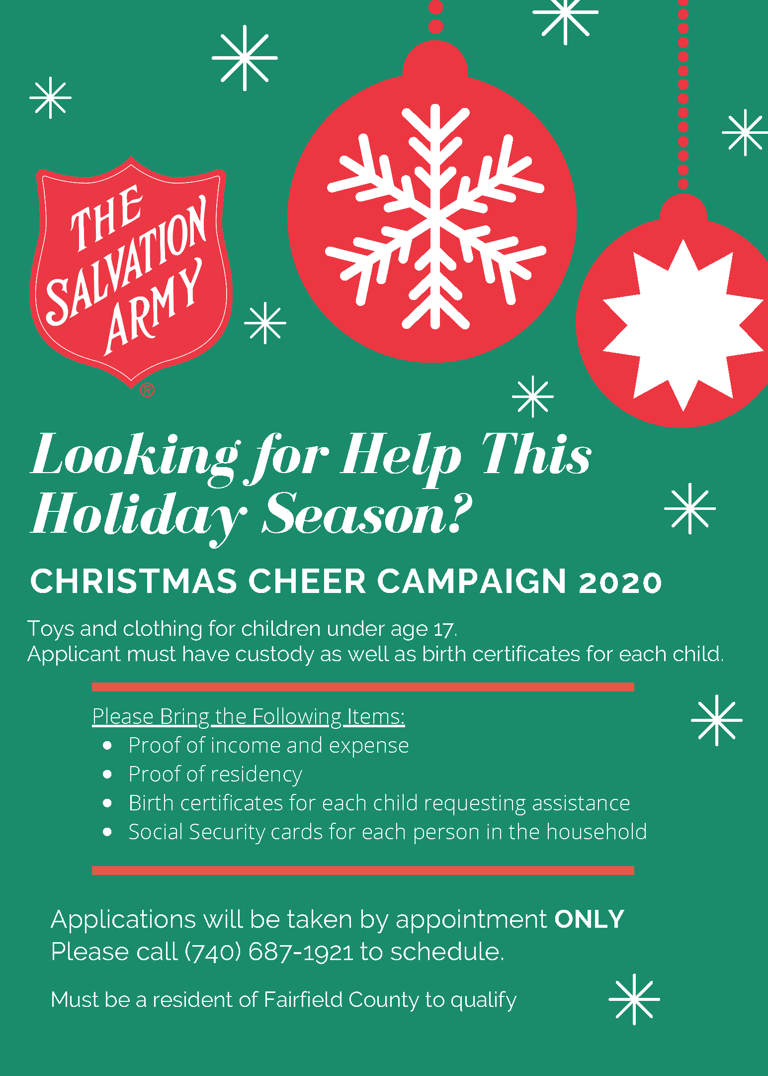 Social Security Payment Schedule Christmas 2020 Obtain Christmas Assistance   Salvation Army Fairfield County, Ohio