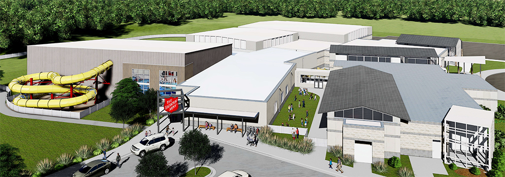 Architectural rendition of Ashland Salvation Army Kroc Center Expansion