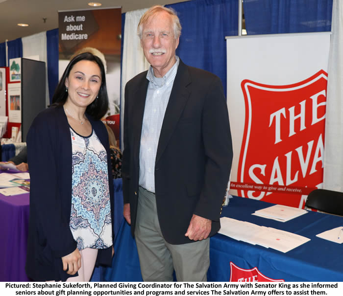 Stephanie Sukeforth, Planned Giving Coordinator for The Salvation Army with Senator King