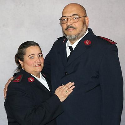 Majors Juan R. & Caroline Ramos