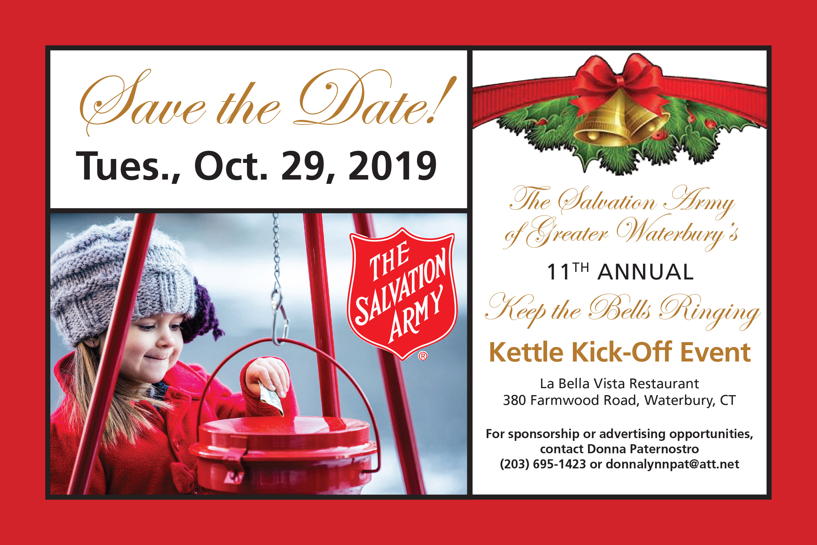 11th Annual Waterbury Salvation Army Kettle Kickoff