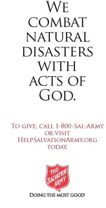 We combat natural disasters with acts of God