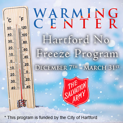 Salvation Army opens warming center in Hartford