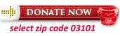 Donate Now - select zip code 03101