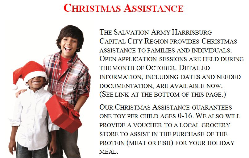 click here for information on our christmas assistance programs english - Christmas Assistance 2014