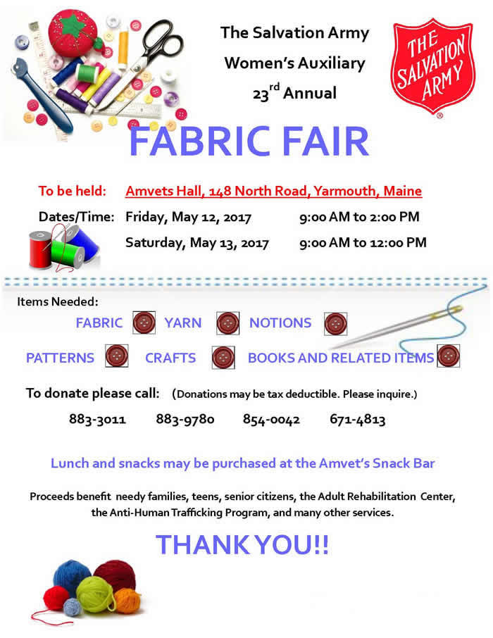 Women's Auxiliary Fabric Fair