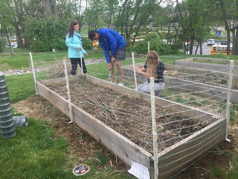 Volunteers Building Fence