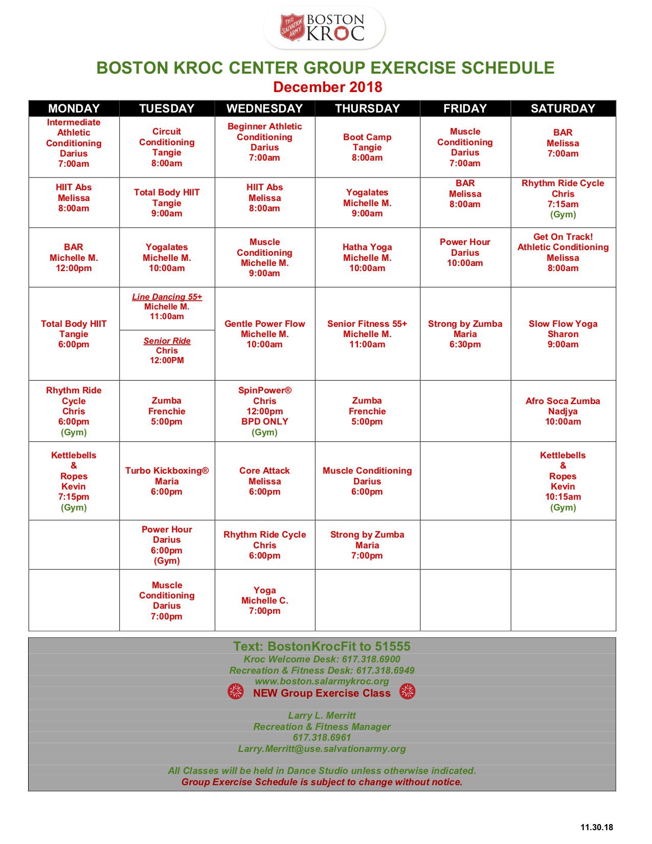 Kroc Corps Community Center Boston Fitness Cardio Circuit Workout Another Great Without Needing Consultation By Appointment Only