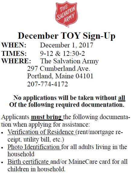 December Toy Sign-Up