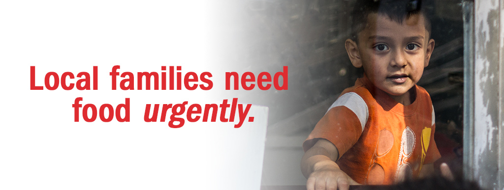 Local families need food urgently.