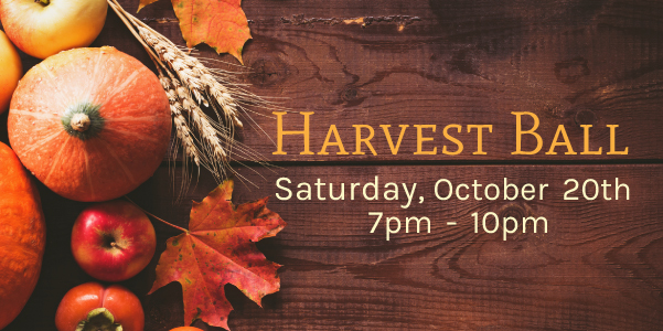 Our Harvest Ball, October 20, Ashland Salvation Army Kroc Center
