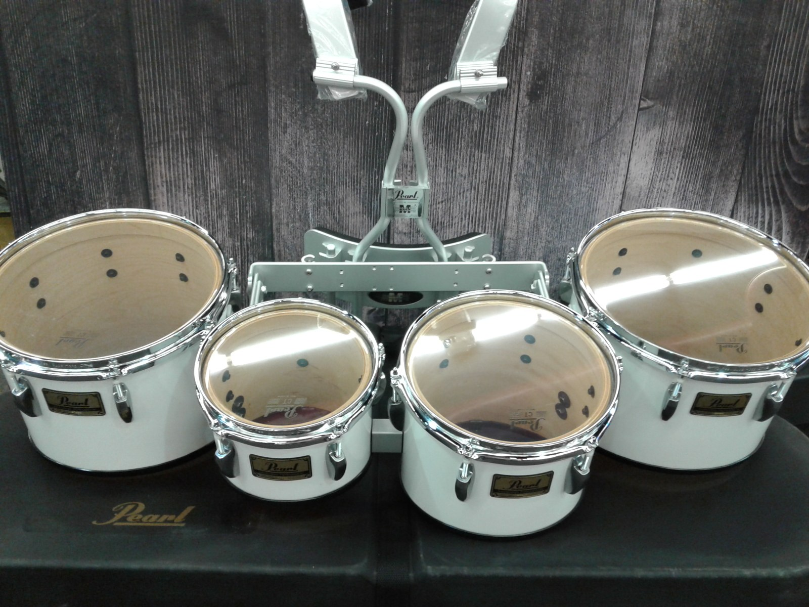 PEARL-QUADS-CASE-HARNESS-LIKE-NEW-MARCHING-FIELD