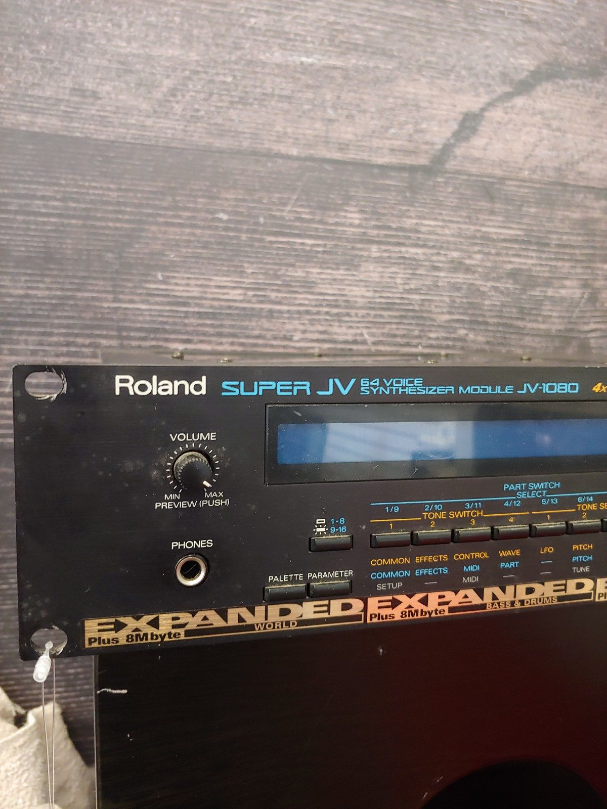 Used Roland JV1080 w/ world, bass & drums and orchestral II exp  - Sam Ash  Used Gear