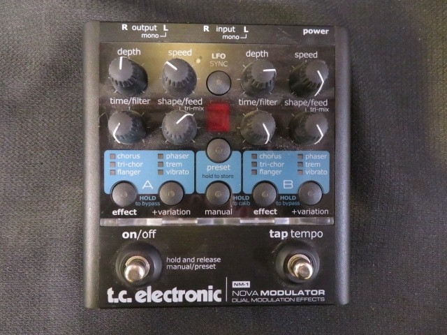 Tc electronic nm-1 nova modulator mint w/ box+manual+power | reverb.