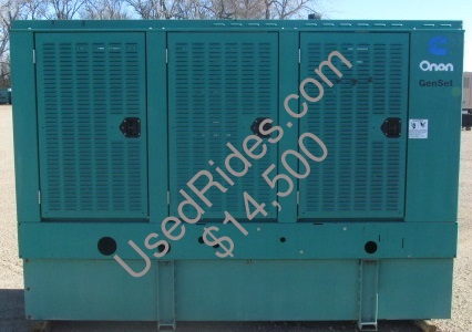 80 kw cummins onan enclosed with tank sn l980843181 side view 1