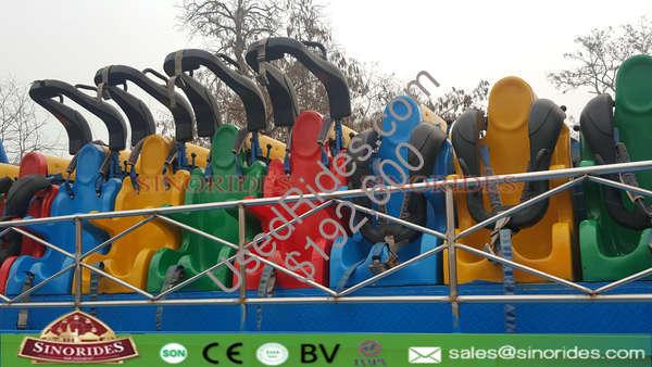 Spinning coaster ride