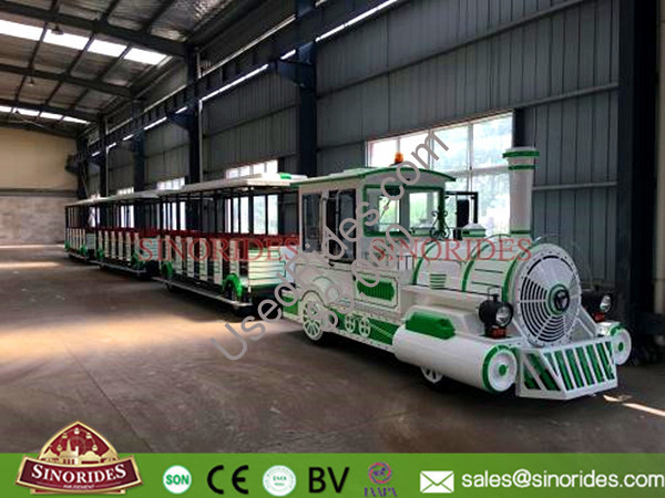 Fuel oil ttrackless train