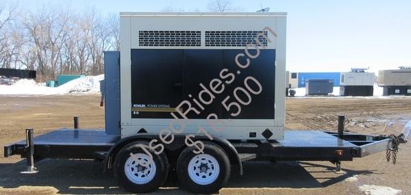 80 kw kohler john deere enclosed trailer mounted with tank sn 2054710 view %281%29