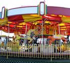 1947 allan herschell 3 row carousel c