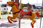 1947 allan herschell 3 row carousel horses12