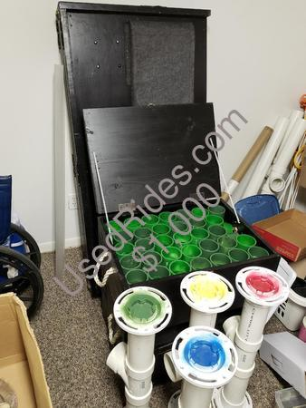 Ball toss table and equipment