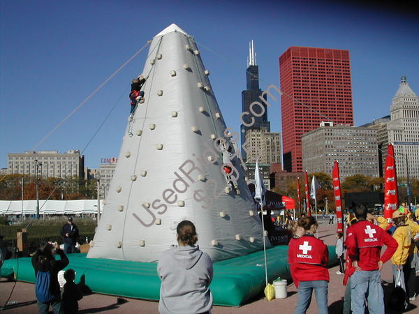 Inflatable rock wall