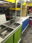 Inside popcorn machine  apple rack and sinks