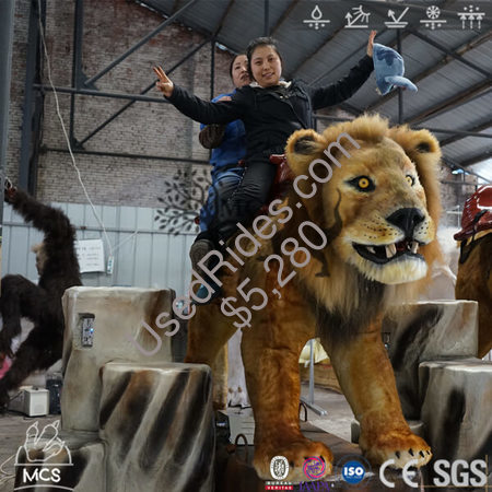 Animatronic  attraction lion ride %284%29