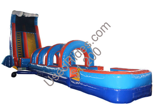 61ft 20inflatable 20slip 20water 20slide 20with 20pool