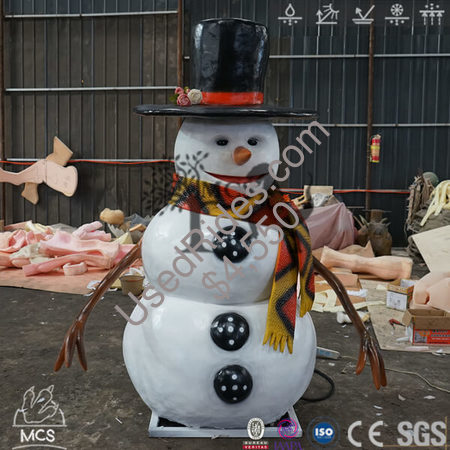 Animated talking or singing snowman christmas decorations %282%29