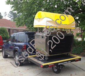 Blank cart on trailer 2308
