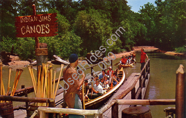 Eager passengers aboard one of indian jim's canoes  frontier village  san jose  california 1