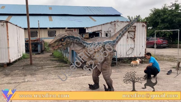 Dcrp723 animatronic dinosaur costume raptor blue suit
