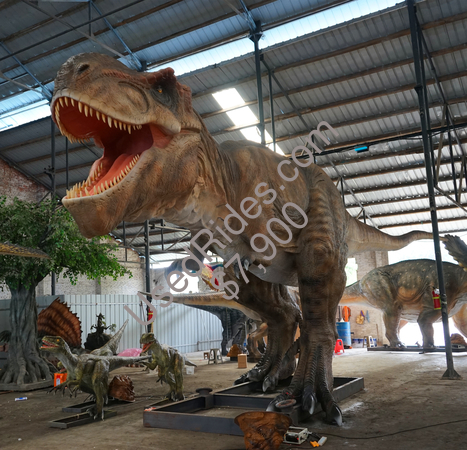 Tyrannosaurus rex animatronics huge t rex movable model  %281%29