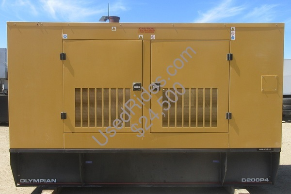 200 kw olympian perkins international enclosed with tank sn oly00000cnns01260 view %281%29