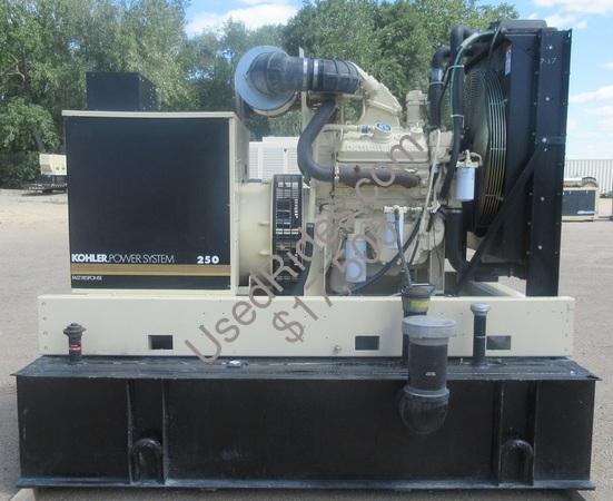 260 kw kohler detroit open frame with base tank sn 604405 view %281%29