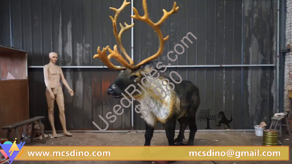 Shopping mall animatronic reindeer christmas decoration