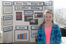Does the shape of ice affect its melting time