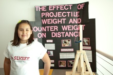 The effect of projectile weight and counter weight on distance